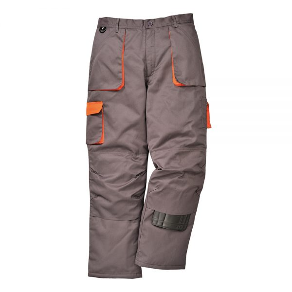 pantaloni salopeta de iarna in talie texo gri