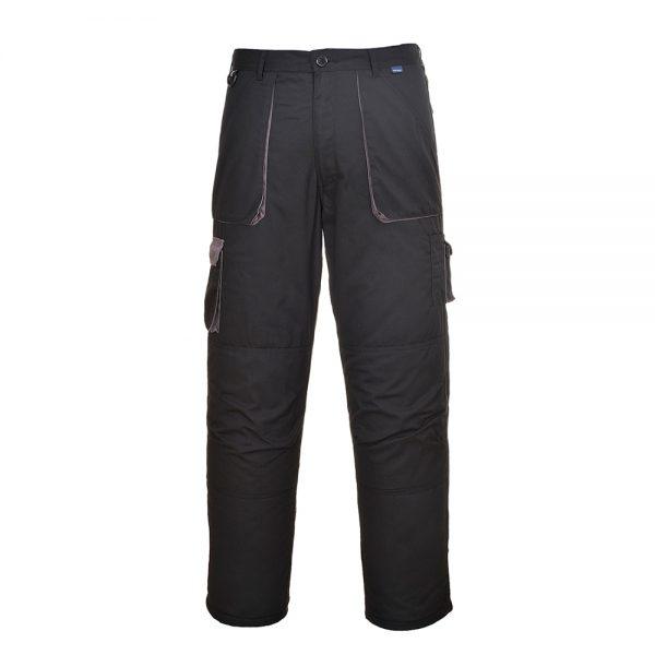 pantaloni salopeta de iarna in talie texo negru