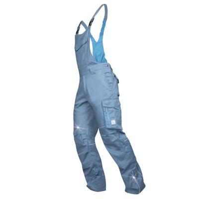 pantaloni salopeta de vara cu pieptar summer gri