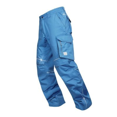 pantaloni salopeta de vara summer talie albastru