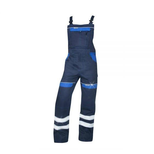 pantaloni salopeta cu pieptar reflectorizanti cool trend bleumarin