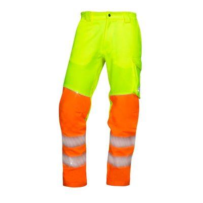 pantaloni salopeta reflectorizanti in talie signal galben