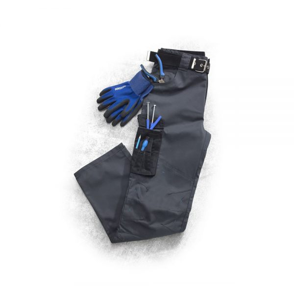 pantaloni de salopeta in talie 4TECH gri