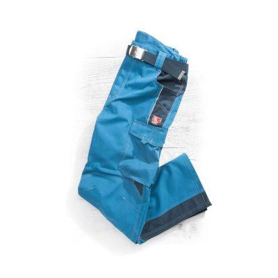 pantaloni de salopeta in talie vision albastru