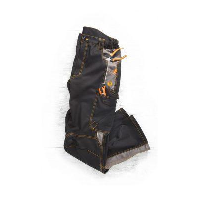 pantaloni de salopeta in talie vision negru