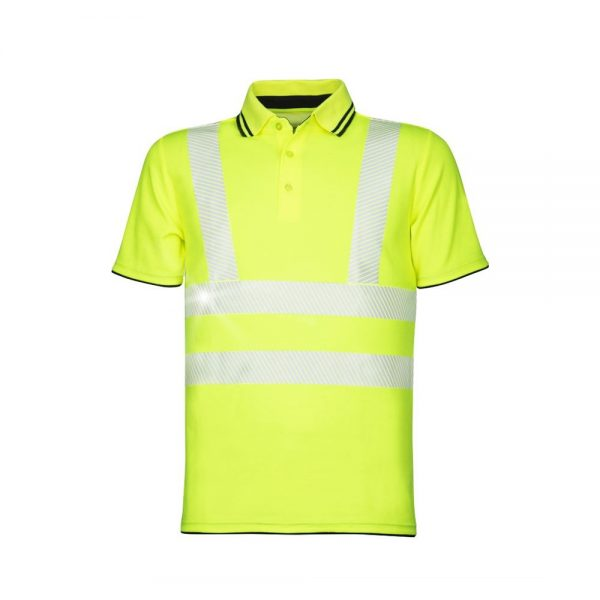 tricou polo reflectorizant signal galben