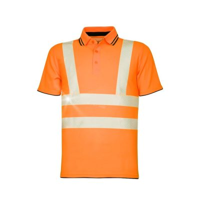 tricou polo reflectorizant signal portocaliu