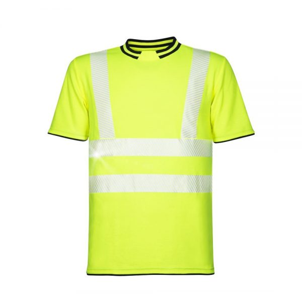 tricou reflectorizant signal galben