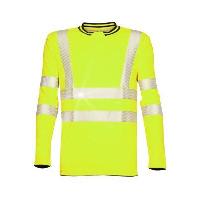 tricou reflectorizant signal galben cu maneca lunga