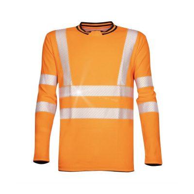 tricou reflectorizant signal portocaliu cu maneca lunga